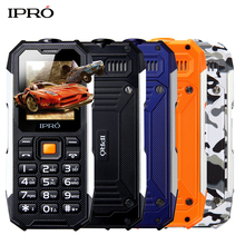 Russian Language IPRO Shockproof Waterproof Phone 2500mAh Bluetooth Flashlight gsm China Mobile Phone Cheapest Cellular Phones(China)