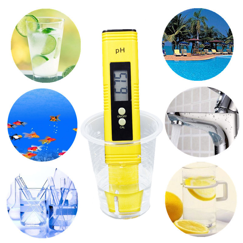 100pcs by dhl fedex Pen 0.01 LCD Acid aquarium Water Quality salt pool tester pH Meter Acidometer Analyzer with retail box %Of 9