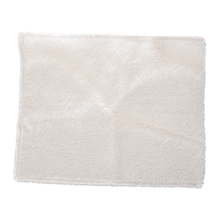 "8.8"" x 7"" Bamboo Fiber Dish Wash Cloth Cleaning Towel White for Kitchen(China)"