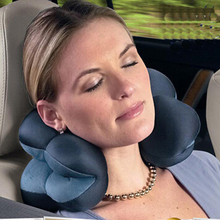 Neck Massage Pillow Plum Flower Amazing Comfort Versatile Office Pillow Bolster Distort Cushion for Travel Plane