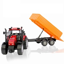 Simulation Farmer Large Size Tractor Children Toy Car Model Diecasts Toy Vehicle