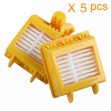 5pcs/lot Vacuum cleaner parts Hepa Filter Replacement Tool Kit Fit for iRobot Roomba 760 770 780 790 Robotic VCX28 T15 0.5