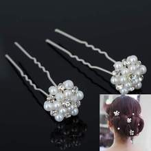 Fahsion Wholesale 20Pcs Bridal Wedding Prom Crystal Diamante Pearl Flower Hair Pins Clips Grips