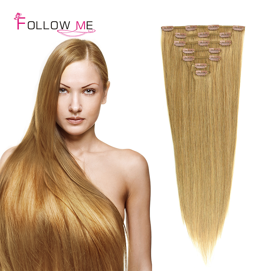 Beauty 24inch Brazilian Clip in Extensions 120G Virgin Clip in Hair Extension 200G 8pcs/set Clip in Hair Extensions Human Hair<br><br>Aliexpress