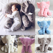 Cute Long Nose Elephant Doll Pillow Soft Plush Animal Stuff Toy Cute Kids Pillow Toys For Children