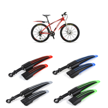New Front Rear Bicycle Bike Mudguard MTB Bike Fenders Mountain Bike Mud Guard Tire Fenders 4 Colors(China)