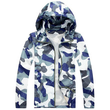 2017 Fashion High Quality Men Jacket Coats, Male Causal Hooded Camouflage  Jacket, Thin Windbreaker Zipper Outwear