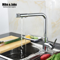 Single Handle 3 Way Kitchen Faucet Double Function Water Filter Kitchen  Faucet Three Way Tap Water