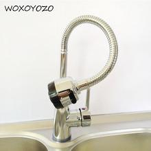 1PC Zinc Alloy Kitchen Basin 360 Rotation Facuet Hot Cold Wated Mixed Tap Fixture Products Deck Mounted