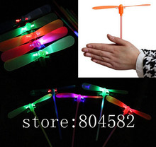 LED Luminous flying bamboo dragonfly light up flashing toys 10 PIECE/lot toy toys ufo T4(China)