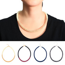 Crystal Choker Mesh Necklace Brands 2017 Network Stars Collares U Golden Fashion Jewelry Summer Style Choker Necklace(China)