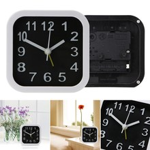 Simple Round/Square Child Desktop Clock Bed Needle Alarm Clock Compact Table Digital Clock Kid Room New Year Decoration