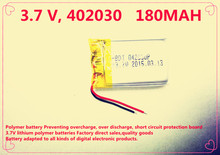 (10pieces/lot) 042030 3.7V 180 mah lithium-ion polymer battery quality goods quality of CE FCC ROHS certification authority