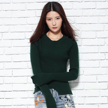 100% Cashmere Women sweaters and Pullover 2017New Longer-Sleeve style Jumpers Higher Lady clothes 4Color Slim Elastic Tops