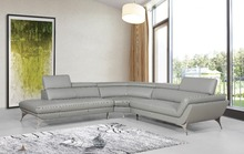 Modern corner sofas with l shape sectional leather sofa for living room couches(China)