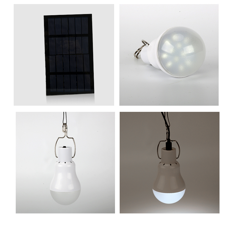 Portable Solar Powered LED Lamp