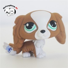 CWG050 Pet Shop Animal Spaniel Brown&White Rares dog action Figure cute puppy(China)
