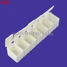 5pcs/lot Mini Week 7Days Medicine Pill Storage Box Case Pillbox Container #H027#(China)