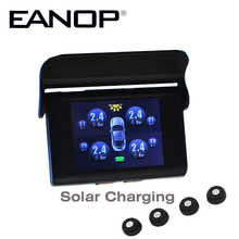 EANOP Car TPMS Solar LCD Type Pressure Monitoring System Tpms Guage Diagnostic Tool tire Pressure ADAS Alarm For Benz,Ford etc(China)