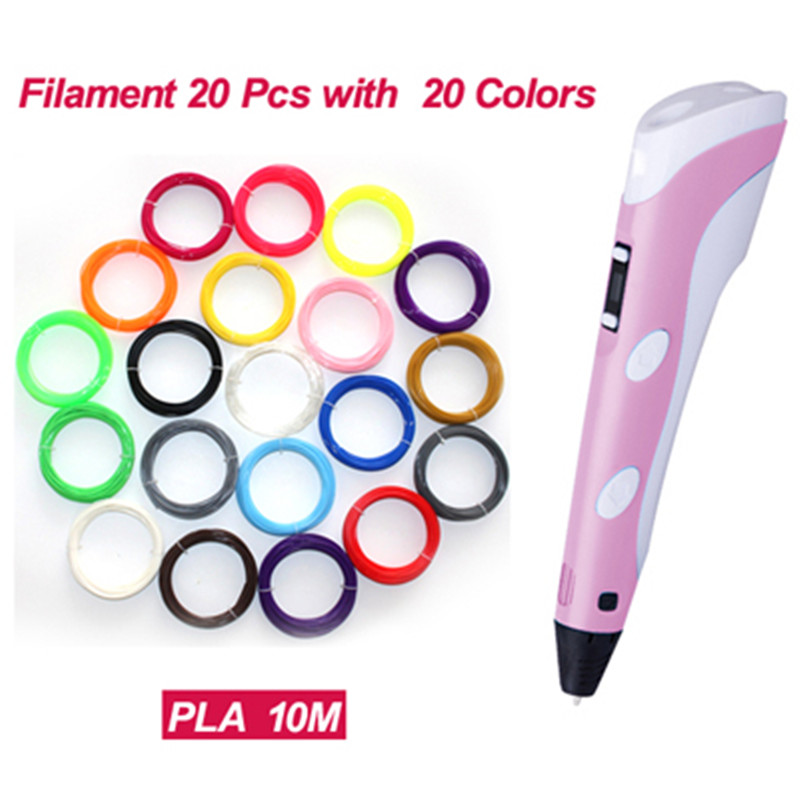 1.75mm ABS/PLA Filament DIY 3D Printing Pen  3D Pen Painting Pen+Filament+Adapter Creative Toy Gift For Kids Design Drawing<br><br>Aliexpress