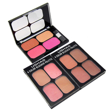 Brand Contouring Makeup Base Bronzers Face Blush Palette With Brush 4 Colors Natural Minerals Make Up Blusher Cosmetics