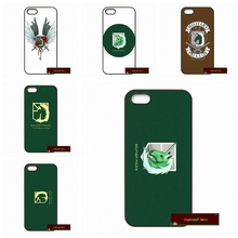 Attack on Titan Military Police Hard Phone Cases Cover For iPhone 4 4S 5 5S 5C SE 6 6S 7 Plus 4.7 5.5