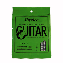 Orphee ACOUSTIC Guitar String  (010-047) Hexagonal core+8% nickel FULL,Bright tone& Extra light