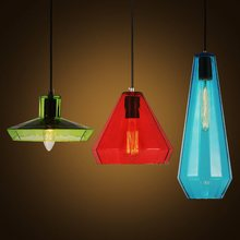 new Modern simple creative restaurant cafe bar table lamp color personality single head engineering glass pendant light
