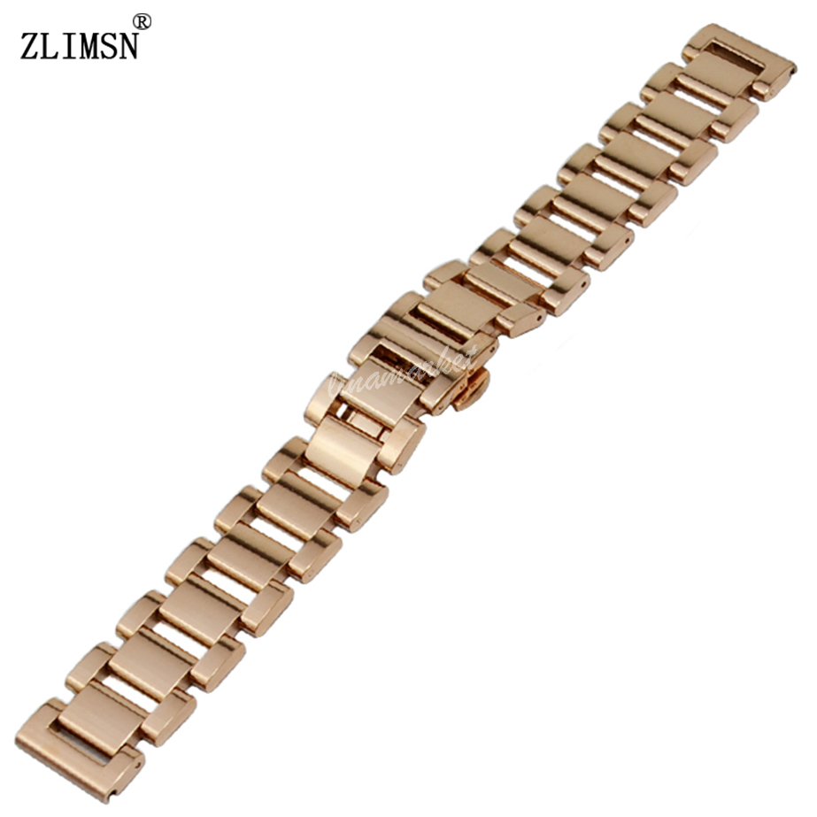 ZLIMSN 18 20 22mm Watch Stainless Steel Quartz Wrist Analog Sport Fashion Luxury Rose Gold Black Watch BANDS Bracelets Relogio<br><br>Aliexpress