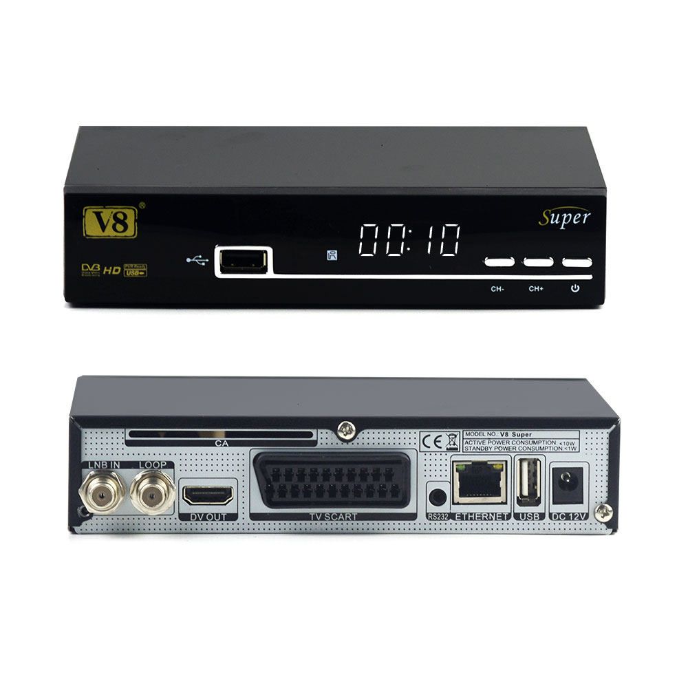 fast shipping freesat V8 Super dvb-s2 receiver androrid TV HD Satellite Receiver support Cccam server 1 year Satellite Receiver
