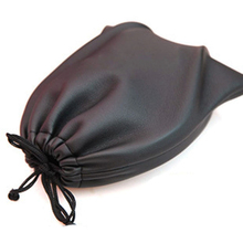 PU Leather Soft Storage Bag Pouch Case For Around Earphone AE TP-1 DJ Headphone Black