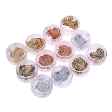 12 Pcs Nail Art Transfer Foil Sticker Paper DIY Beauty Polish Design Stylish Nail Decoration Tools Manicure Decal