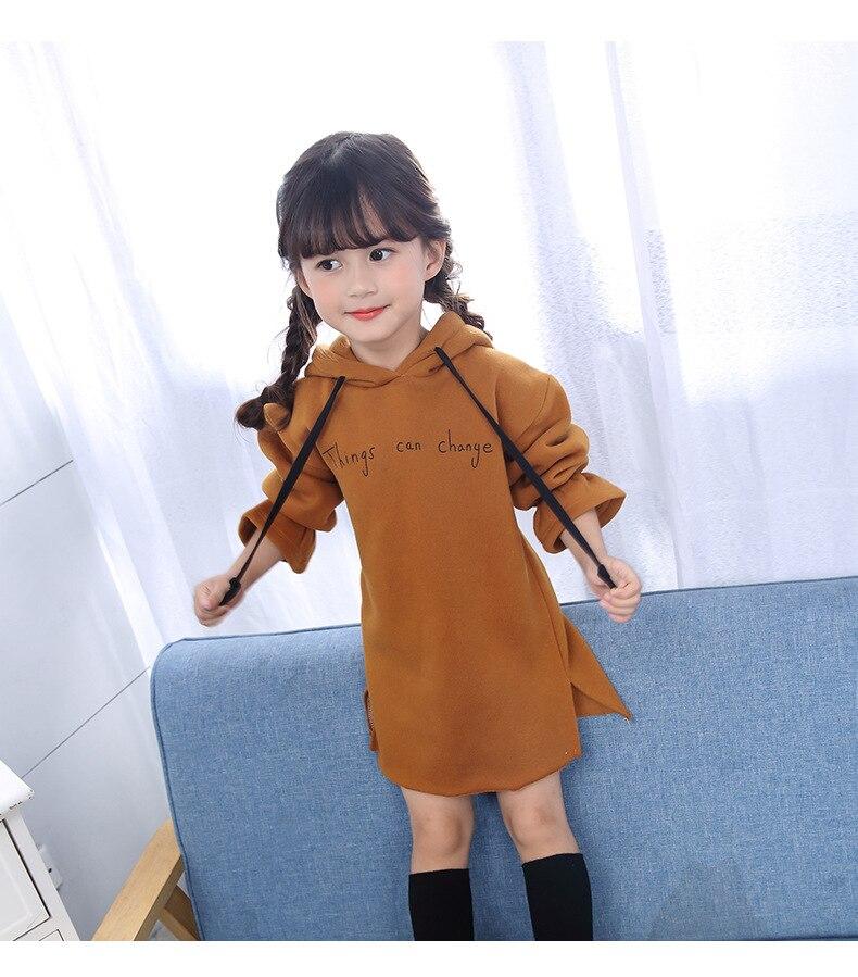 فستان طويل الاكمام للاطفال 4