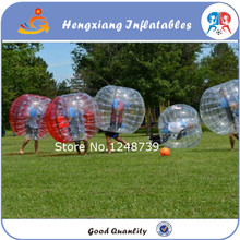 Team Building Games 1.5M 6pcs 3blue and 3red +1 Blower PVC Inflatable Loopyball Suit, Zorb Ball,Bubble Football,Bubble Soccer