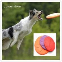 Dog Frisbee Fly Toy Soft Flying Discs Toys for Dog Pets Floatable Dog Toy Floppy Disc Durable Interactive Dog Fetch Frisbee Toy