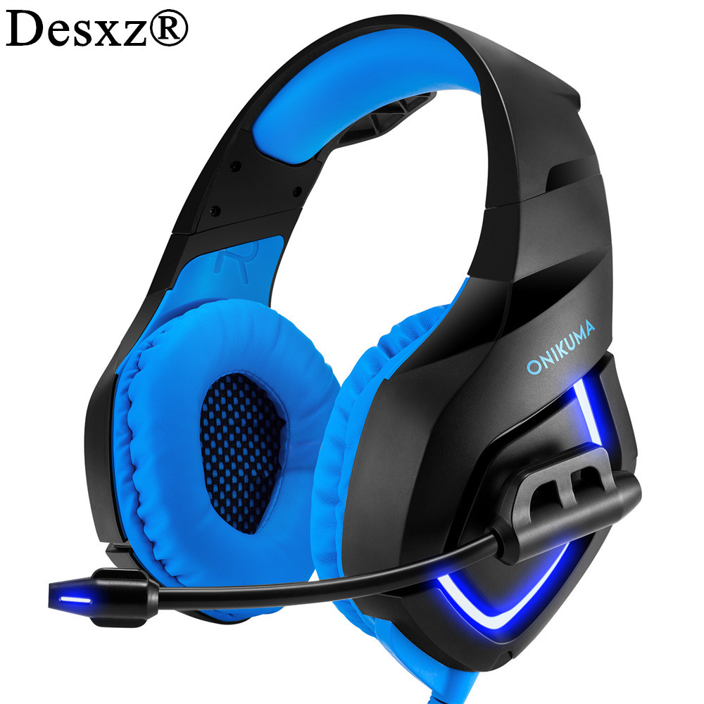 Desxz noise Canceling gaming headphones for computer PS4 PSP phone 3.5mm + USB Wired headphone with Microphone for PC game <br>