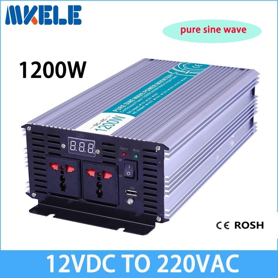 MKP1200-122 inverter 1200v 12vdc to 220vac inverter Pure Sine Wave voltage converter,solar inverter LED Display<br><br>Aliexpress