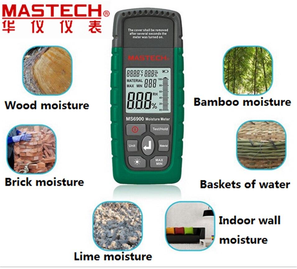 Mastech MS6900 higrometre Digital Moisture Meter Wood/ Lumber/Concrete Buildings<br>