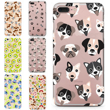 OWNEST Phone Cases Cute Dogs Westie Bull Terrier Pug Pomsky Puppy Clear TPU Case Cover for iPhone 5 5s SE 6 6s 7 7 Plus