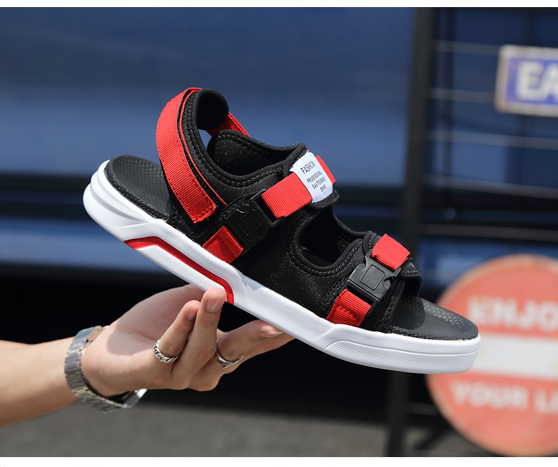 YRRFUOT Summer Big Size Fashion Men's Sandals Outdoor Hot Sale Trend Man Beach Shoes High Quality Non-slip Adult Flats Shoes 46 22 Online shopping Bangladesh