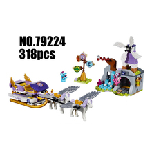Compatible with Lego Elves 41077 LELE 79224 318pcs Elves Figure blocks Aira's Pegasus Sleigh building blocks toys for children(China)