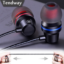 Tendway DM1 In-ear Bass Earphones with Mic Noise Canceling Metal 3.5mm Wire Eerphone for Iphone Samsung fone de ouvido LP-x1