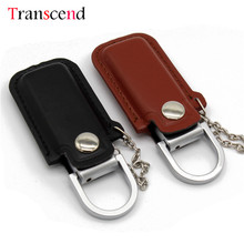 Transcend 64GB Ppendrive Leather Wristband Pendrive 8GB 4GB USB Flash Drive 32GB 16GB Metal(China)