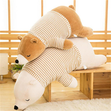 Baby Kids Plush Bear Toy Sleeping Comfort Doll Plush Toy Soft Stuffed Animal Appease Cushion & Pillow Bear Toy Z159(China)