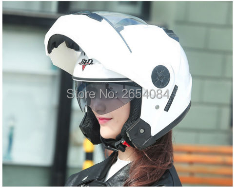 BLD Free Shipping Double lens with airbag motorcycle helmet latest locomotive running full face helmet(China (Mainland))