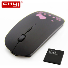 Rechargeable Wireless Mouse Super Mute Buttons Optical Mouse Ultra-thin Hello kitty Silence Clicking Mause Mice for PC Laptop