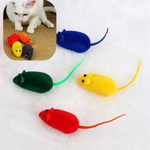 Pet supplies 1pcs Cute Furry Mouse for Cat Toys Kitten Play False Mice Rat Toys Squeak Sound Funny Cat Supplies