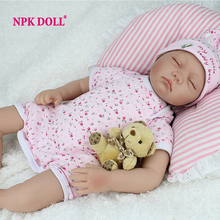 NPKDOLL Reborn Baby Doll Lifelike Soft Silicone Sleeping Reborn Babies Alive Adorable Toy For Children(China)