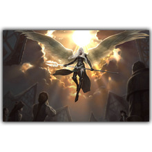 Magic The Gathering Swords Angels MTG armor 3 Size Silk Fabric Canvas Poster Print YX364