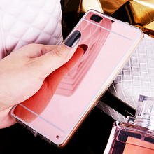 Luxury Plating Mirror Soft Silicone Case Protector Back Shell Cover For HUAWEI Ascend P9 / P9 G9 Lite mini P9lite G9lite P9mini